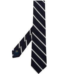 Polo Ralph Lauren Cravate étroite reps de soie rayé - Bleu