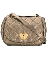 Boutique Moschino - Quilted Heart Lock Bag - Lyst
