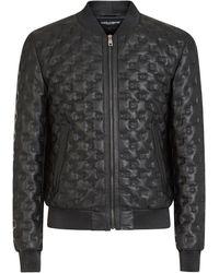 Dolce & Gabbana Dgロゴ レザージャケット - ブラック