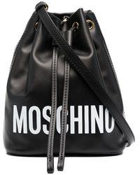 Moschino Сумка-ведро С Логотипом - Черный