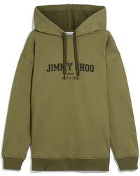 Jimmy Choo Hoodie mit Logo - Grün
