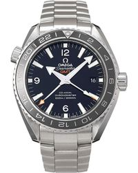 Omega Наручные Часы Seamaster Planet Ocean Co-axial Gmt Pre-owned 43.5 Мм 2009-го Года - Черный