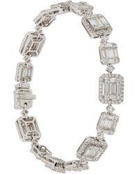 Gemco 18kt White Gold And Diamond Bracelet - Metallic