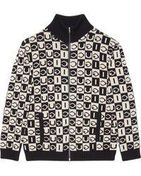 Gucci Geruite Jas - Zwart