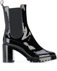 L'Autre Chose Chelsea-Boots mit Absatz - Schwarz