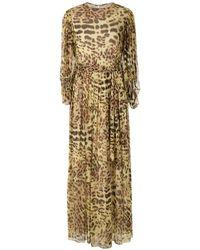 Adriana Degreas Платье С Леопардовым Принтом - Желтый