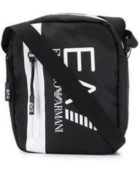 EA7 Сумка-мессенджер С Логотипом - Черный