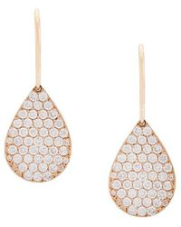 Irene Neuwirth - 18kt Rose Gold And Diamond Teardrop Earrings - Lyst