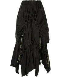 Yohji Yamamoto ドレープ スカート - ブラック
