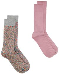Anonymous Ism Multi Pack Knitted Socks - Pink