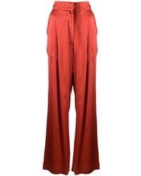 Le Kasha Wide-leg Flared Pants - Orange