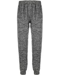 Styland Knitted Track Trousers With Logo Patch Detail - Black