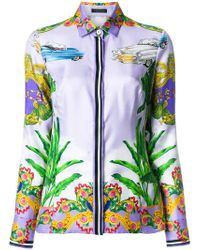 Versace - Printed Zipped Jacket - Lyst