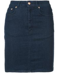 Won Hundred - Fitted Denim Skirt - Lyst