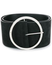 Alessandra Rich Circular Buckle Belt - Black
