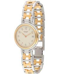 Hermès Наручные Часы Clipper Date Pre-owned 31 Мм - Металлик