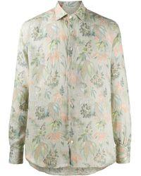 Etro Overhemd Met Bloemenprint - Groen