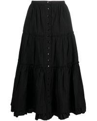 Marc Jacobs Ярусная Юбка A-силуэта - Черный
