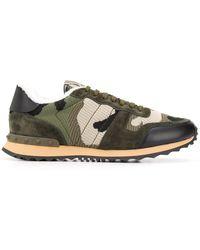Valentino Rockrunner Sneakers Met Camouflageprint - Groen