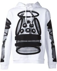 Hood By Air Printed Drawstring Hoodie - White