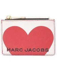 Marc Jacobs Portemonnee Met Hartprint - Wit