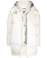 Army by Yves Salomon Oversized Shearling Lined Parka - White