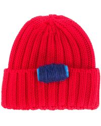 Ultrachic Cable Knitted Beanie - Red