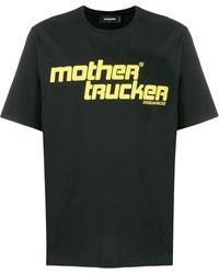DSquared² T-shirt Met Print - Zwart