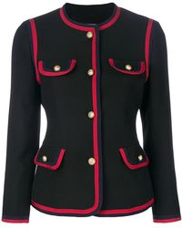Gucci - Contrast Piping Fitted Blazer - Lyst