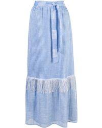 lemlem Zinab ラップ スカート - ブルー