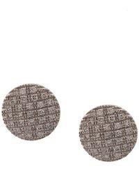 Dana Rebecca 14kt White Gold Diamond Stud Earrings - Metallic