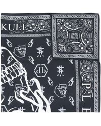 Philipp Plein モノグラム スカーフ - ブラック