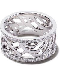 De Beers 18kt Witgouden Bandring Met Diamant