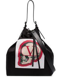 Valentino Garavani X Undercover Black Logo Bucket Bag