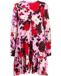 Erdem フローラル シフトドレス - ピンク