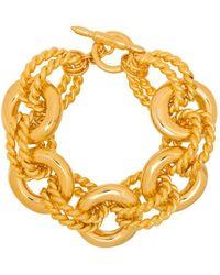 Kenneth Jay Lane Twist Link Gold-tone Bracelet - Metallic