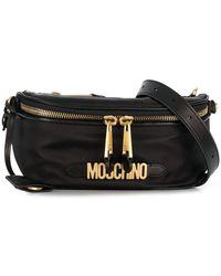 Moschino Logo Plaque Belt Bag - Black