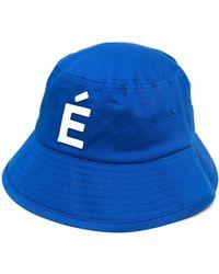 Etudes Studio パッチディテール バケットハット - ブルー