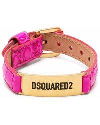 DSquared² レザーベルト ブレスレット - ピンク