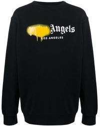 Palm Angels Sweatshirt mit Logo-Print - Schwarz