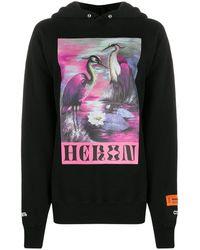 Heron Preston Bird Print Hoodie - Black