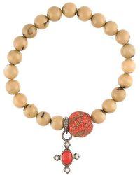 Loree Rodkin - Beaded Diamond Charm Bracelet - Lyst