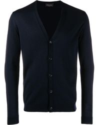 Roberto Collina V-neck knit cardigan - Bleu