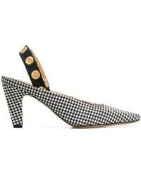 Mulberry Christy Eyelet Slingback Court Shoes - Black