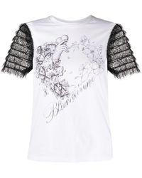 Blumarine シアー Tシャツ - ホワイト