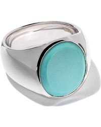 Tom Wood - Oval Turquoise Ring - Lyst
