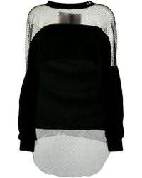DIESEL - Mesh Panel Sweatshirt - Lyst
