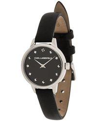 Karl Lagerfeld Наручные Часы K/studs Petite Round - Черный