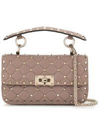 Valentino Mini sac à main Rockstud - Gris