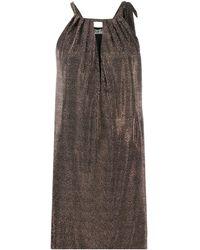 Saint Laurent - Платье Мини С Вырезом Халтер И Заклепками - Lyst